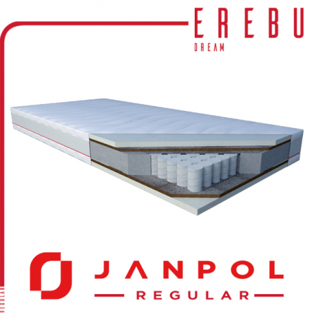 Materac EREBU DREAM 80x200 SILVER - JANPOL