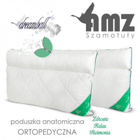Poduszka bawełniana ANATOMICZNA Z WAŁKIEM - AMZ